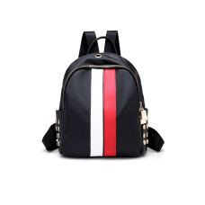 Fashion Zipper Design Striped White leather Backpacks