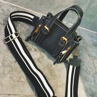 Trendy Zipper Design Black PU Crossbody Bag