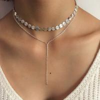 Fashion Tassel Design Silver Metal Necklace