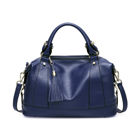 New leather women's bag stylish single shoulder bag tassel head layer cowhide handbag women's bag cross-body #95075