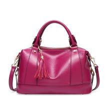 New leather women's bag stylish single shoulder bag tassel head layer cowhide handbag women's bag cross-body #95077