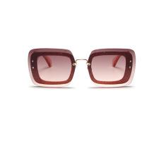 Fashion Gradient Orange PC Sunglasses