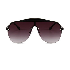 Fashion Integral Crossbeam Design Dark Grey PC Sunglasses