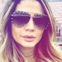 Fashion Rivet Decoration Grey PC Sunglasses