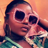 Stylish Pink Plastic Sunglasses