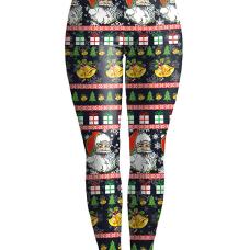 Euramerican Mid Waist Printed Polyester Leggings
