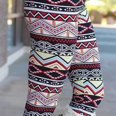 Trendy High Waist Printing Polyester Leggings