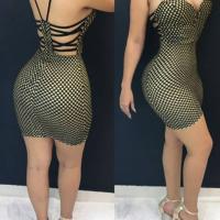Sexy Backless Green Twilled Satin Sheath Mini Dress