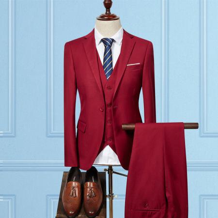 New men's blazer three-piece suit in large size #95070