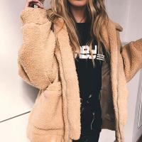 Casual Turndown Collar Long Sleeves Light Camel Polyester Coat