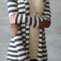 Lazy Afternoon Patch Stripe Coat