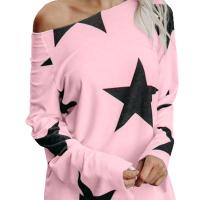 Polyester O Neck Long Sleeve Geometric Blouses&Shirts