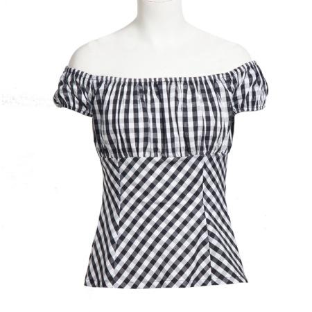 new cotton tee pink one word collar elastic sleeve t-shirt #94941