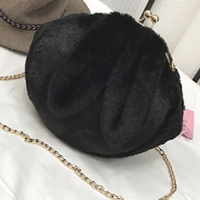 Fashion Black Plush  Crossbody Bags