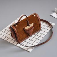 Trendy Zipper Design Brown PU Clutches Bags