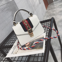 Fashion Patchwork White leather Crossbody Bag