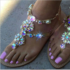 Sandals Explosive rhinestone women's sandals #95011