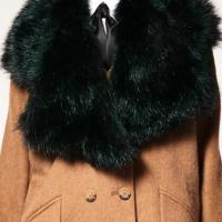 Fashion Fur Design Black Wool Scarves