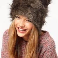 Lovely Animal Ear Design Brown Wool Hats