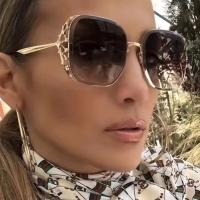Euramerican Diamante Decorative Apricot PC Sunglasses