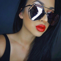Trendy Black Plastic Sunglasses