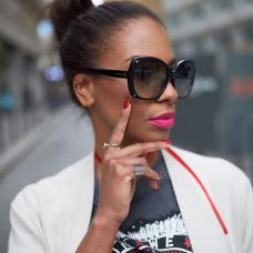 Fashion Black Metal Sunglasses