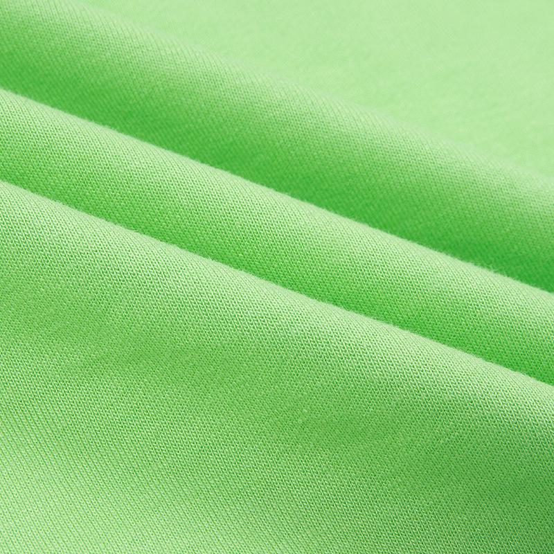 Fluorescent green sexy halter dress cross-border women's long sleeve nightclub V halter slit miniskirt #95104