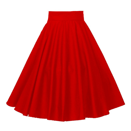 Plus-size goth punk women's cotton red ball dress with a full skirt is supplied by manufacturers #94933