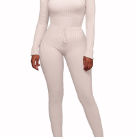 Stylish Dew Shoulder White Polyester One-piece Jumpsuits