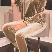 Velvet Solid Regular Jumpsuits