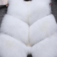Euramerican V Neck Fur Design White Waistcoats