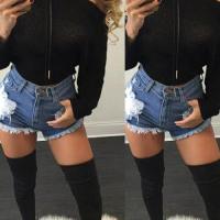 Trendy  Dew Shoulder Long Sleeves Black Wool Sweaters