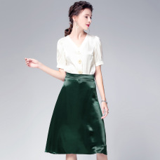 2019 summer European and American women's new top + skirt two-piece suit #94975