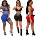 Best selling European and American sexy bra plaid bag hip Slim nightclub pants #94964